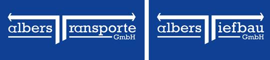 Logo Albers Transporte GmbH + Albers Tiefbau GmbH